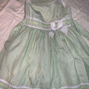 Bonnie Jean size 10 girls dress light green/white